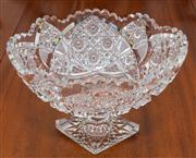 Sale 8308A - Lot 89 - Exceptional quality hand cut lead crystal table centrepiece. Ht: 18cm.