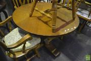 Sale 8338 - Lot 1675 - Round Timber Dining Table