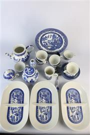 Sale 8429 - Lot 85 - Churchill Blue & White Tea Service with Other Blue & White Ceramics