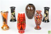 Sale 8486 - Lot 21 - Art Glass Vases with Others inc Royal Staffordshire