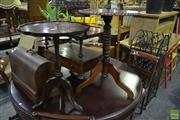 Sale 8566 - Lot 1644 - Timber Wine tables x 2