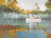 Sale 8764 - Lot 530 - Robert Hagan (1947 - ) - Untitled (Sunday on the Lake) 90 x 121cm