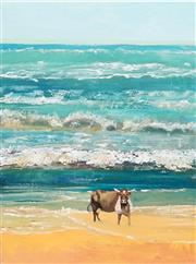 Sale 8867A - Lot 5084 - Eddi Kewley - Cow at Noosa 99.6 x 75cm