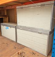 Sale 8984M - Lot 18 - Three commercial grade coolers. Each measuring 100 wide x 60 deep cm
