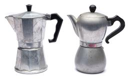 Sale 9123J - Lot 365 - Two Italian made stove top coffee machines, height approx 20cm each