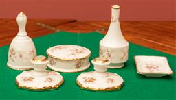 Sale 9260M - Lot 37 - A Paragon six piece dressing table set in the Victoriana Rose pattern
