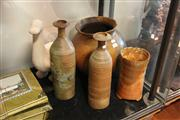 Sale 8098 - Lot 96 - Signed Studio Pottery Vase with Other Studio Wares
