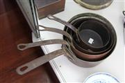 Sale 8189 - Lot 85 - French Graduated Set of 4 Copper Saucepans