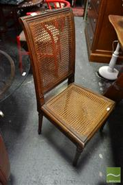 Sale 8472 - Lot 1089 - Louis XVI Style Beech Side Chair, with caned back & seat (fault)