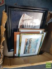 Sale 8548 - Lot 2118 - Collection of Framed Boat Prints incl one Photo of Coast Guard Tall Ship