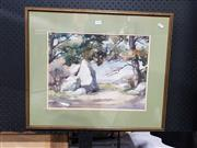 Sale 8699 - Lot 2052 - M. Neill - View From the Road, watercolour, SLR