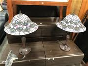 Sale 8801 - Lot 1585 - Pair of Lead Light Shade Table Lamps
