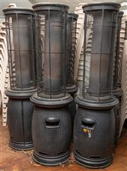 Sale 8984M - Lot 11 - A group of 9 potbelly style patio heaters 175cm approx.