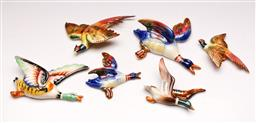 Sale 9131 - Lot 31 - Collection of graduated ceramic wall mount bird figures