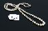 Sale 3719 - Lot 114 - A STRAND OF GRADUATED CULTURED PEARLS ON SILVER CLASP.