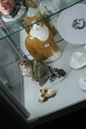 Sale 7875 - Lot 40 - Beswick Figure of a Cat & Several Cat Figures