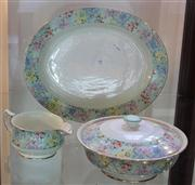 Sale 7950 - Lot 95 - Shelly Melody Platter, Tureen and Jug