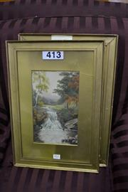 Sale 8013 - Lot 1264 - Pair of Signed Watercolours
