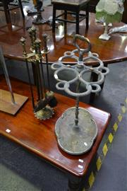 Sale 8159 - Lot 1028 - Umbrella Stand and Fire Tool Set