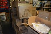 Sale 8214 - Lot 2334 - Large Collection of Boxes items Cushions, Figures, Frames, etc