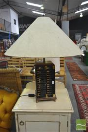Sale 8257 - Lot 1099 - An Abacus Form Table Lamp with cream shade