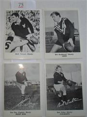 Sale 8404S - Lot 75 - Manly Daily Mirror Cards 1967 – Mick Veivers, Bill Bradstreet, Ken Day, Bob Fulton