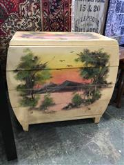 Sale 8782 - Lot 1725 - Hand Painted Bow Front Cabinet