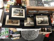 Sale 8816 - Lot 2082 - Collection of Hunting and Fishing Themed Chromolithographs (4)