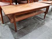 Sale 8908 - Lot 1086 - Parker Coffee Table with Rattan Shelf