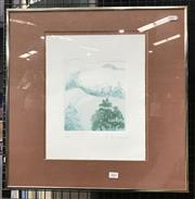Sale 9016 - Lot 2001 - Peter Hickey Nude in Landscape etching and aquatint ed. 35/35, 52 x 52cm (frame) signed