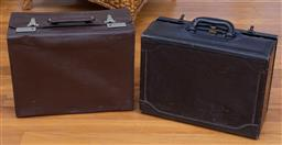 Sale 9190H - Lot 460 - A black Condotti leather document carrier together with a brown leather breifcase.