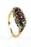Sale 3808 - Lot 600 - A 9CT GOLD RUBY AND DIAMOND RING;