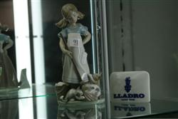 Sale 7907 - Lot 91 - Lladro Figure of Girl Sweeping & a Lladro Sign