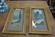 Sale 8013 - Lot 1287 - Pair of Watercolours - signed & dated 1922
