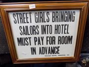Sale 8437 - Lot 2086 - Hotel Sign