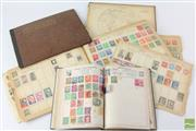 Sale 8540 - Lot 98 - Early Stamp Albums containing Some Pre 1930s Stamps