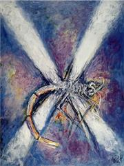 Sale 8756A - Lot 5027 - Kevin Charles Pro Hart (1928 - 2006) - Dragonfly 76.5 x 56.5cm (sheet size)