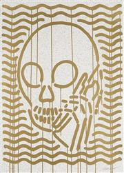 Sale 8870 - Lot 2035 - SkullPhone - Mop Gold 71 x 51cm