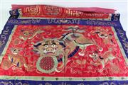 Sale 8902C - Lot 678 - Fo lion Chinese silk Tapestries