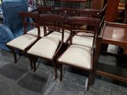 Sale 8988 - Lot 1093 - Set of 6 Paddle and Carved Back Dining Chairs (H:86 W:45cm)