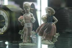 Sale 7907 - Lot 95 - Lladro Figure of Girl with Flowers & Another