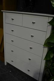 Sale 8058 - Lot 1011 - Chest of Six Drawers