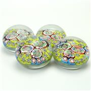 Sale 8399A - Lot 19 - Murano Castellani Millefiori Set of Four Paperweights