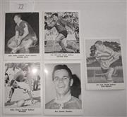 Sale 8404S - Lot 77 - Souths Daily Mirror Cards 1967 – John Sattler, Bob McCarthy, Mike Cleary, Jim Lisle, Eric Simms