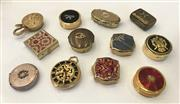 Sale 8436A - Lot 49 - A small quantity of pill boxes and compacts including Stratton. (12)