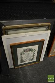 Sale 8471 - Lot 2057 - Group of 4 Framed Modern Artworks