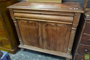 Sale 8520 - Lot 1043 - Late 19th Century Cedar Chiffonier, with frieze drawer & two shield panel doors & spiral twist columns