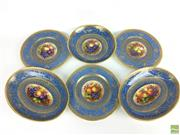 Sale 8649R - Lot 165 - Collection of George Jones & Sons Plates and Bowls Repaired in the Antique Fashion (Dia: 23cm)