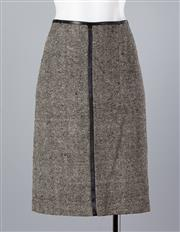 Sale 8661F - Lot 19 - A Mr & Mrs Macleod woven silk skirt with bemberg trim, size 40