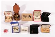 Sale 9010D - Lot 754 - Large Collection of Various Cuff Links inc Sterling Silver, Rolled Gold and Other Examples